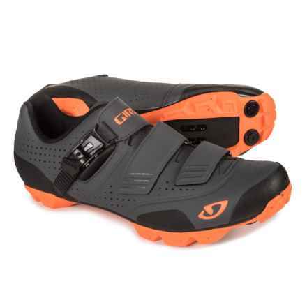 Giro Privateer R Mountain Bike Shoes - SPD (For Men) in Dark Shadow/Flame Orange - Closeouts