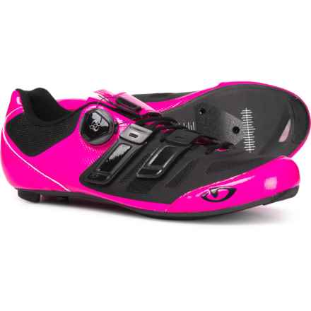 Giro Raes Techlace Cycling Shoes - 3-Hole (For  Women) in Bright Pink/Black - Closeouts