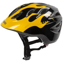 Giro Rascal Bike Helmet (For Kids and Youth) in Matte Black/Yellow Livestrong Flames - Closeouts