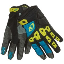 Giro Remedy Mountain Biking Gloves (For Men and Women) in Cyan/Neon/Black - Closeouts