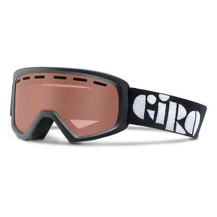 Giro Rev Basic Ski Goggles (For Little and Big Kids) in Black/Amber Rose - Closeouts