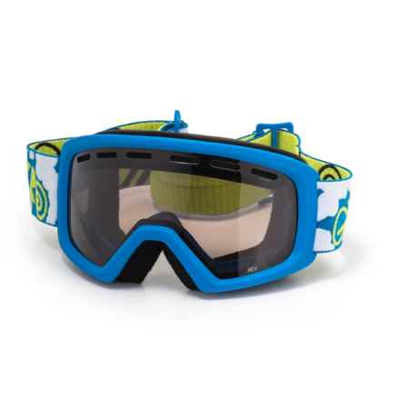 Giro Rev Basic Ski Goggles (For Little and Big Kids) in Blue/Lime - Closeouts