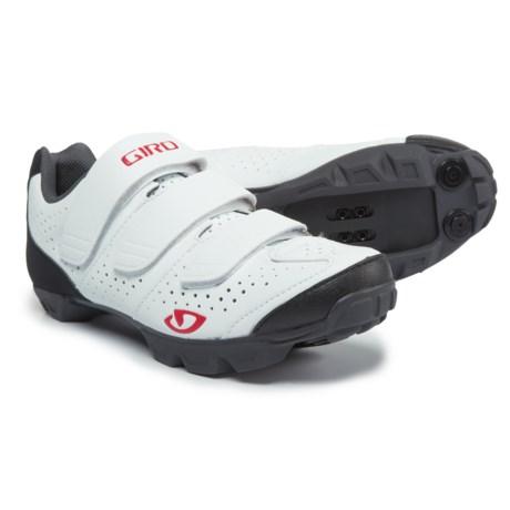 Giro Riela R Mountain Bike Shoes - SPD (For Women) in White/Coral