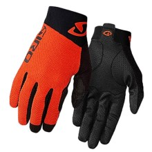 Giro Rivet II Cycling Gloves - Full Finger, Touchscreen Compatible (For Men and Women) in Flame Orange/Black - Closeouts