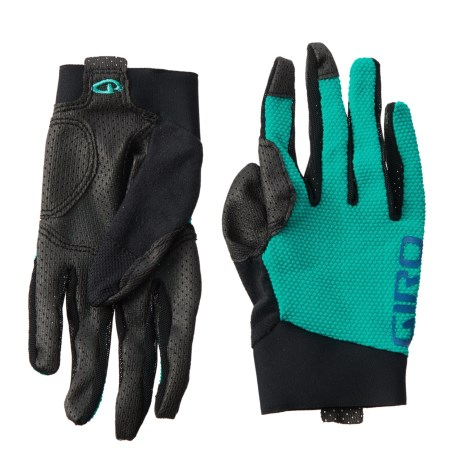 Giro Riv'ette Mountain Bike Gloves - Touchscreen Compatible (For Women) in Turquoise/Blue Teal