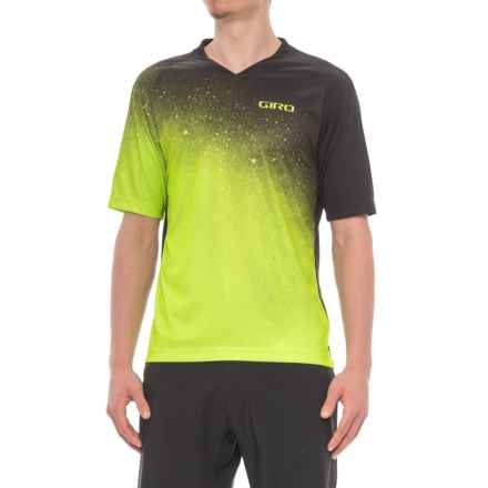 Giro Roust MTB Jersey T-Shirt - UPF 20+, Crew Neck, Short Sleeve (For Men) in Lime Fade - Closeouts