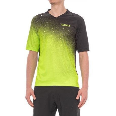 Giro Roust MTB Jersey T-Shirt - UPF 20+, Crew Neck, Short Sleeve (For Men) in Lime Fade