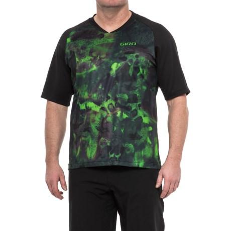 Giro Roust MTB Jersey T-Shirt - UPF 20+, Crew Neck, Short Sleeve (For Men) in Military Spec Riptide