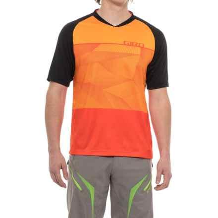 Giro Roust MTB Jersey T-Shirt - UPF 20+, Crew Neck, Short Sleeve (For Men) in Vermillion Geo - Closeouts