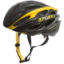 Giro Saros Bike Helmet (For Men) in Matte Black/Yellow Livestrong - Closeouts