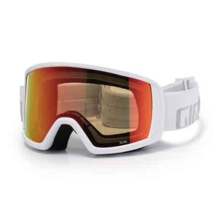 Giro Scan Ski Goggles in White Wordmark/Amber Scarlet - Closeouts