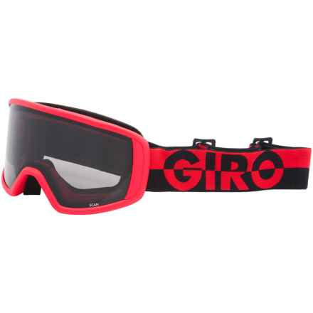 Giro Scan Ski Goggles - Limo Lens in Flash Red/Black/50/50/Black - Closeouts