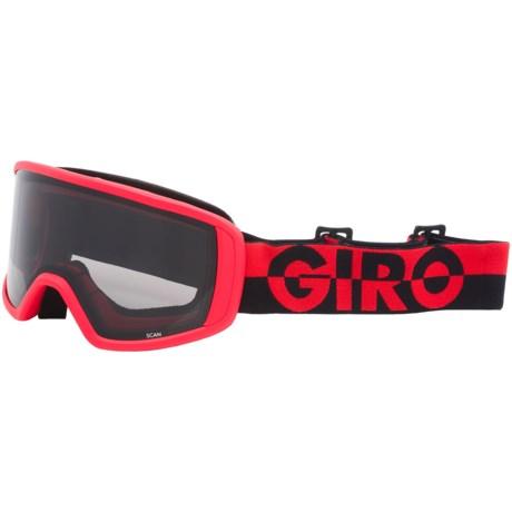 Giro Scan Ski Goggles - Limo Lens in Flash Red/Black/50/50/Black