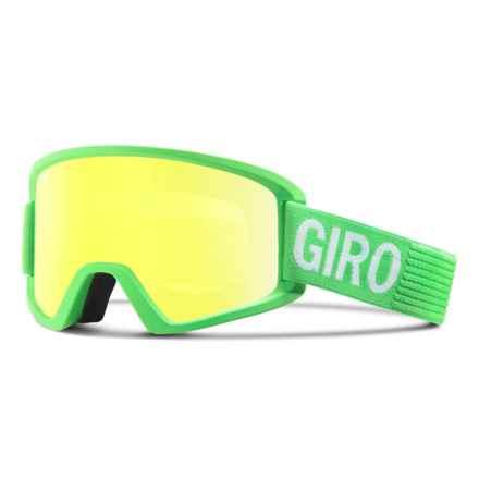 Giro Semi Ski Goggles - Extra Lens in Bright Green Monotone/Loden Yellow - Closeouts