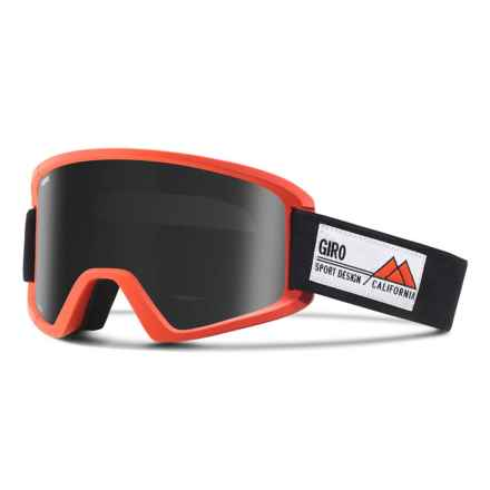 Giro Semi Ski Goggles - Extra Lens in Glowing Red Frame Pop/Black Limo - Closeouts