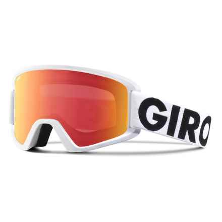 Giro Semi Ski Goggles - Extra Lens in White Futura/Amber Scarlet - Closeouts