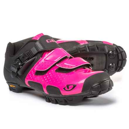 Giro Sica VR70 Mountain Bike Shoes - SPD (For Women) in Bright Pink/Black - Closeouts