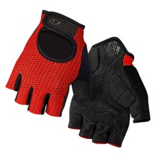 Giro Siv Bike Gloves - Fingerless (For Men and Women) in Glowing Red/Black - Closeouts