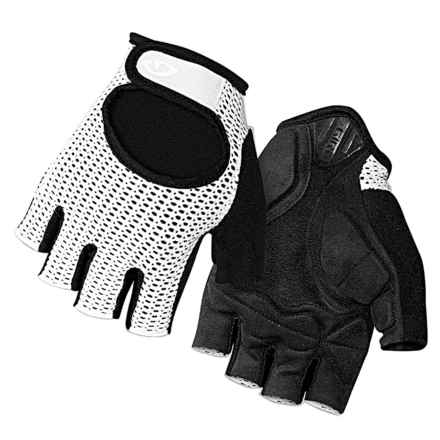 Giro Siv Bike Gloves - Fingerless (For Men and Women) in White/Silver - Closeouts