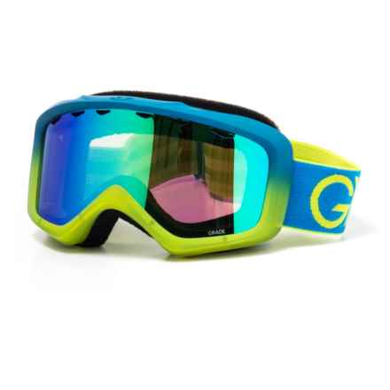Giro Ski Goggles (For Youth) in Flash Blue/Lime Dual/London Green - Closeouts