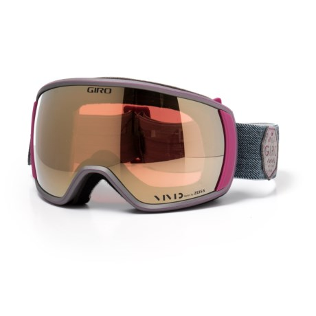 Giro Ski Goggles - Spherical Lens (For Women) in Berry Mountain Division/Vivid Copper