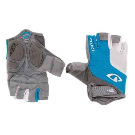 Giro Strada Massa Supergel Fingerless Bike Gloves (For Men and Women) in Blue Jewel/White - Closeouts