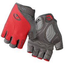 Giro Strada Massa Supergel Fingerless Bike Gloves (For Men and Women) in Coral/Titanium - Closeouts