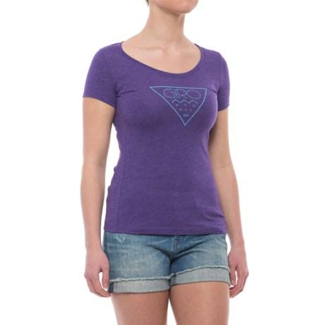 Giro Tech T-Shirt - Short Sleeve (For Women) in Purple Purple/Mountain Division