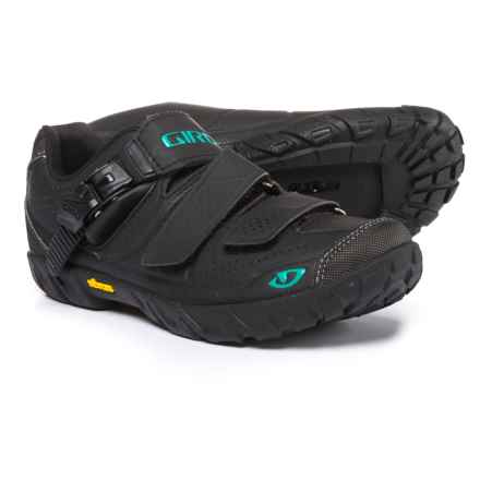 Giro Terradura Mountain Bike Shoes - SPD (For Women) in Black/Dynasty Green - Closeouts