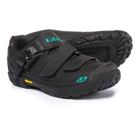 Giro Terradura Mountain Bike Shoes - SPD (For Women) in Black/Dynasty Green - Closeouts