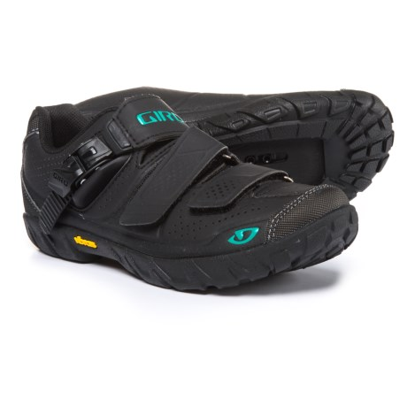 Giro Terradura Mountain Bike Shoes - SPD (For Women) in Black/Dynasty Green
