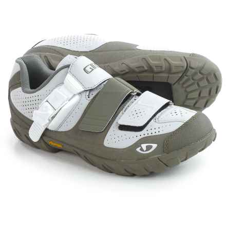 Giro Terradura Mountain Bike Shoes - SPD (For Women) in Glacier Grey/Mil Spec Olive - Closeouts