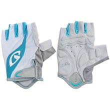 Giro Tessa Bike Gloves - Fingerless (For Women) in White/Milky Blue - Closeouts