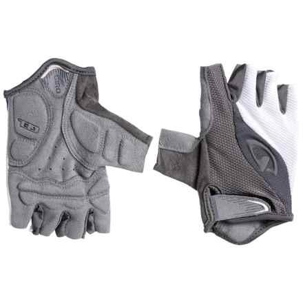 Giro Tessa Bike Gloves - Fingerless (For Women) in White/Titanium - Closeouts