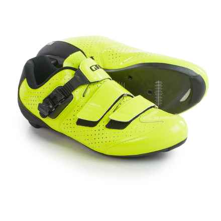 Giro Trans E70 Road Cycling Shoes - 3-Hole (For Men) in Highlight Yellow/Black - Closeouts