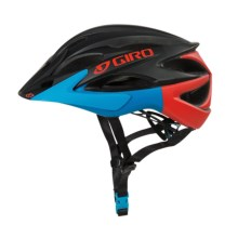 Giro Xar Mountain Bike Helmet (For Men and Women) in Matte Black/Glowing Red/Blue - Closeouts