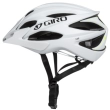 Giro Xar Mountain Bike Helmet (For Men and Women) in Matte White/Lime - Closeouts