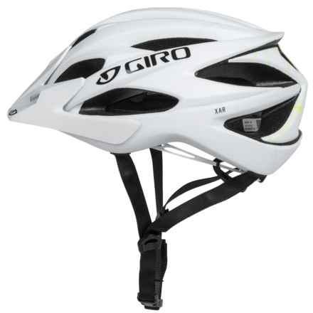 Giro Xar Mountain Bike Helmet (For Men and Women) in Matte White/Lime - Closeouts