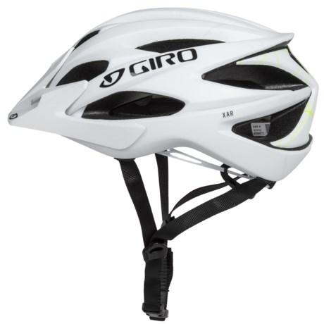 Giro Xar Mountain Bike Helmet (For Men and Women) in Matte White/Lime