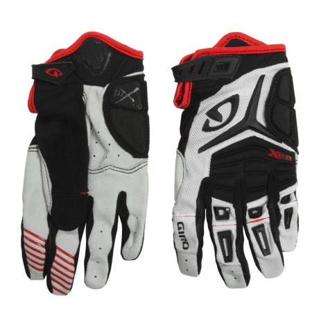 Giro Xen Cycling Gloves (For Men and Women) in White/Black/Red