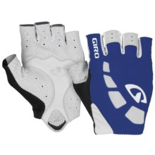 Giro Zero Cycling Gloves - Fingerless (For Men and Women) in Blue/White - Closeouts