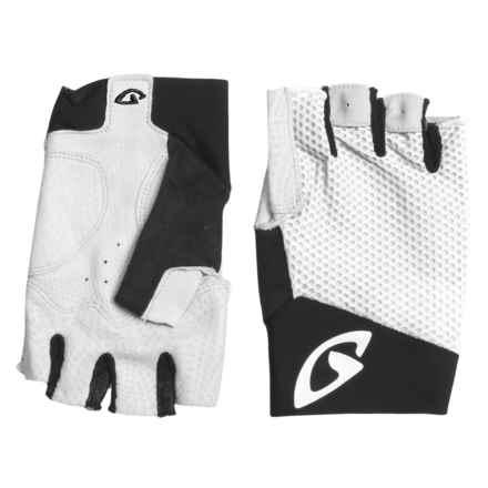 Giro Zero II Cycling Gloves - Fingerless (For Men and Women) in White/Black - Closeouts