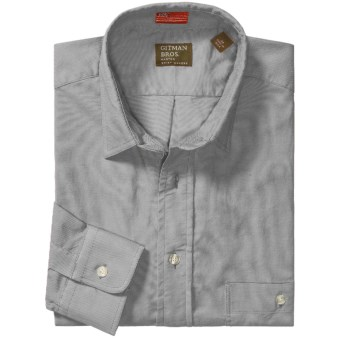 Gitman Brothers 2-Pocket Sport Shirt - Long Sleeve (For Men) in Grey