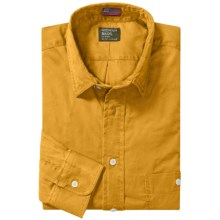 Gitman Brothers Brushed Cotton Sport Shirt - Tailored Fit, Long Sleeve (For Men) in Gold - Closeouts