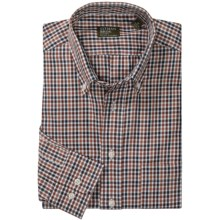 Gitman Brothers Button Down Pattern Sport Shirt - Long Sleeve (For Men) in Brown/White/Black Check - Closeouts