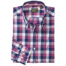 Gitman Brothers Button Down Pattern Sport Shirt - Long Sleeve (For Men) in Navy/Pink/White Check - Closeouts