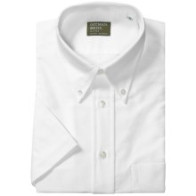 Gitman Brothers Button-Down Shirt - Short Sleeve (For Men) in White - Closeouts