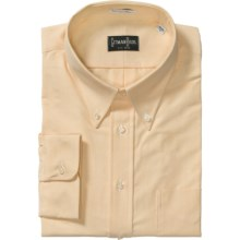 Gitman Brothers Cambridge Dress Shirt - Cotton Oxford, Long Sleeve (For Tall Men) in Yellow - Closeouts