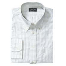 Gitman Brothers Cotton Check Dress Shirt - Long Sleeve (For Tall Men) in Yellow - Closeouts