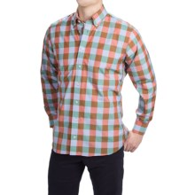 Gitman Brothers Cotton Check Shirt - Button-Down Collar, Long Sleeve (For Men) in Red/Red/Brown - Closeouts